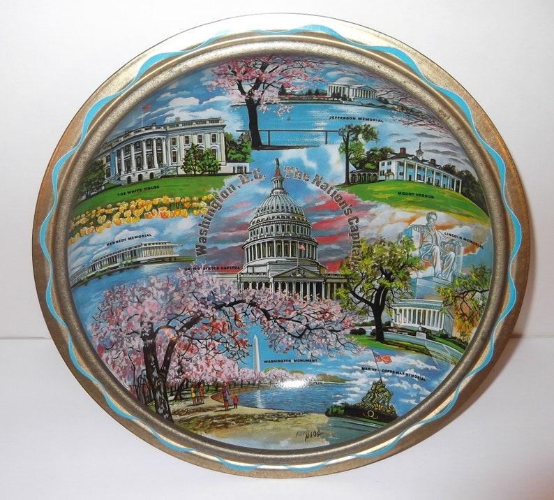 Monumental Bowl Souvenir Collector/'s Gold Metal Bowl Vintage Washington D.C