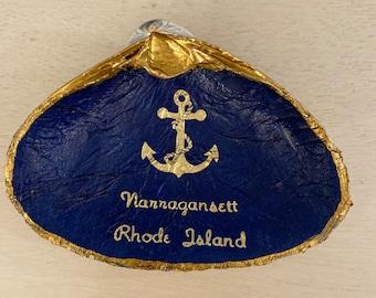 Narragansett, Rhode Island Decoupaged Shell