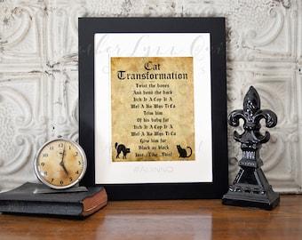 Hocus Pocus Cat Transformation Spell - DIY Printable