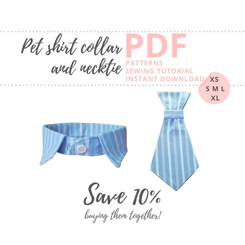 Dog shirt collar pattern and Dog neck tie sewing pattern/ How image 0
