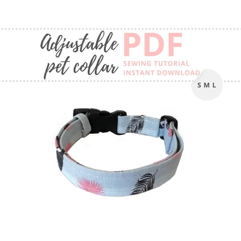 Adjustable dog collar Tutorial and Patterns / Pet collar DIY / image 0