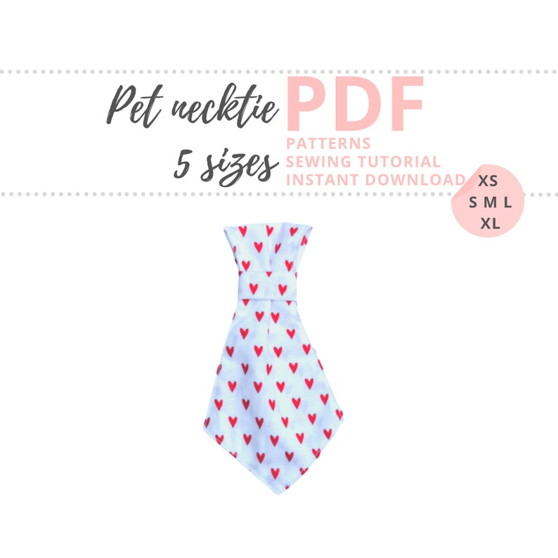Pet Necktie Tutorial and Patterns / Valentines dog accessory / image 0