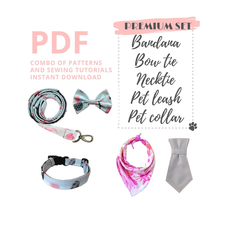 PDF Sewing Tutorials and Patterns of dog accessories: pet image 0
