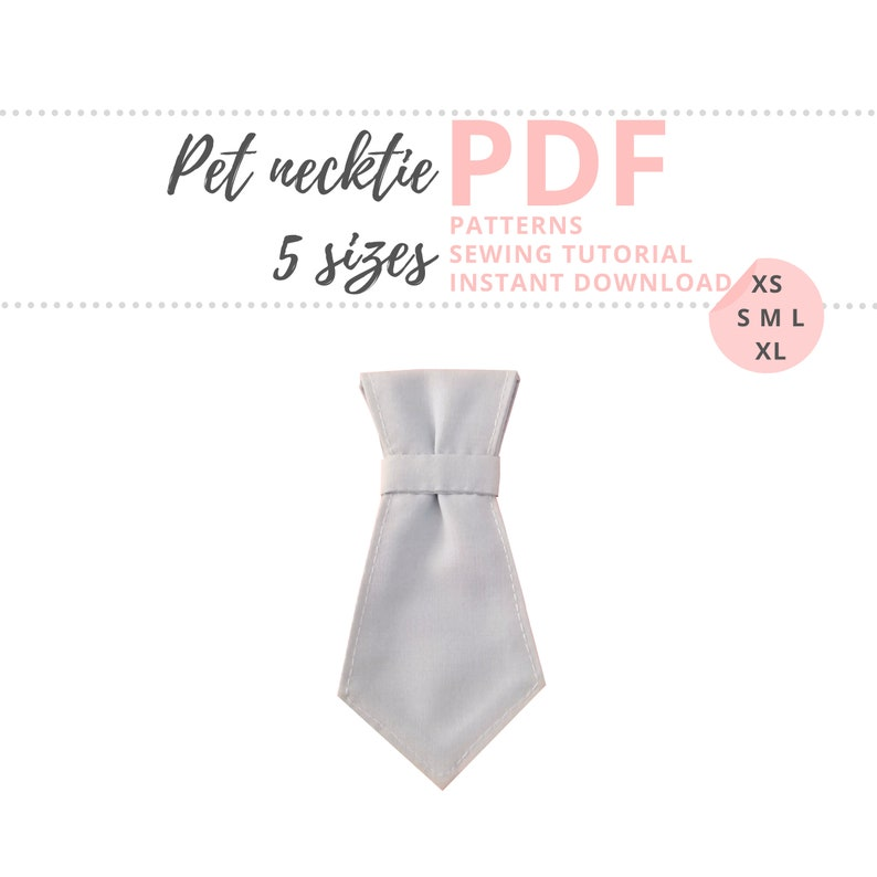 Pet Necktie Tutorial and Patterns / Dog Neck Tie for Wedding / image 0