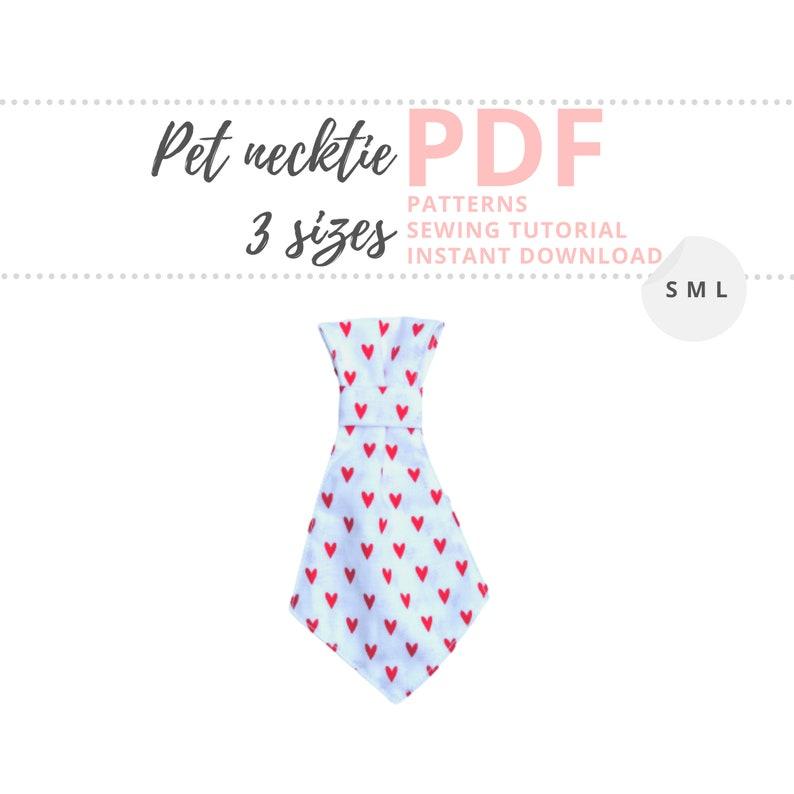 Valentines Necktie Pattern for pet / Dog Neck Tie / Small image 0