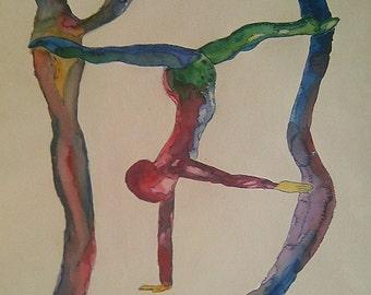 Original watercolor. Body agreement number 6