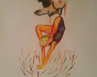 Original watercolor. Body agreement number 5