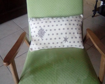 Snow star cushion
