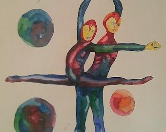 Original watercolor. Body agreement number 3