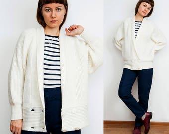 Vintage 80s Soft White Cardigan