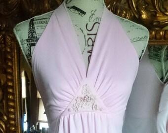 Vintage 1960's Pale Pink Maxi Dress