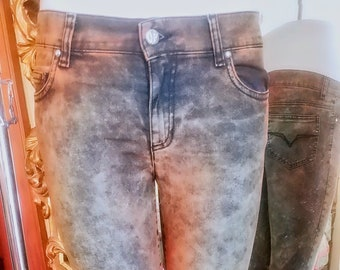 a7138dd65c10 Gianni Versace Low Rise Overdied Stretch Skinny Jeans