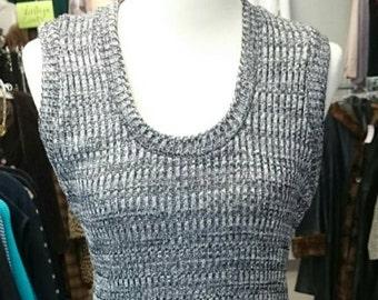 Vintage Caron Chicago Metalic Knit Maxi Dress