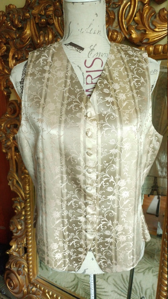 Vintage 1980's Designer Emanuel Ungaro Silk Vest S