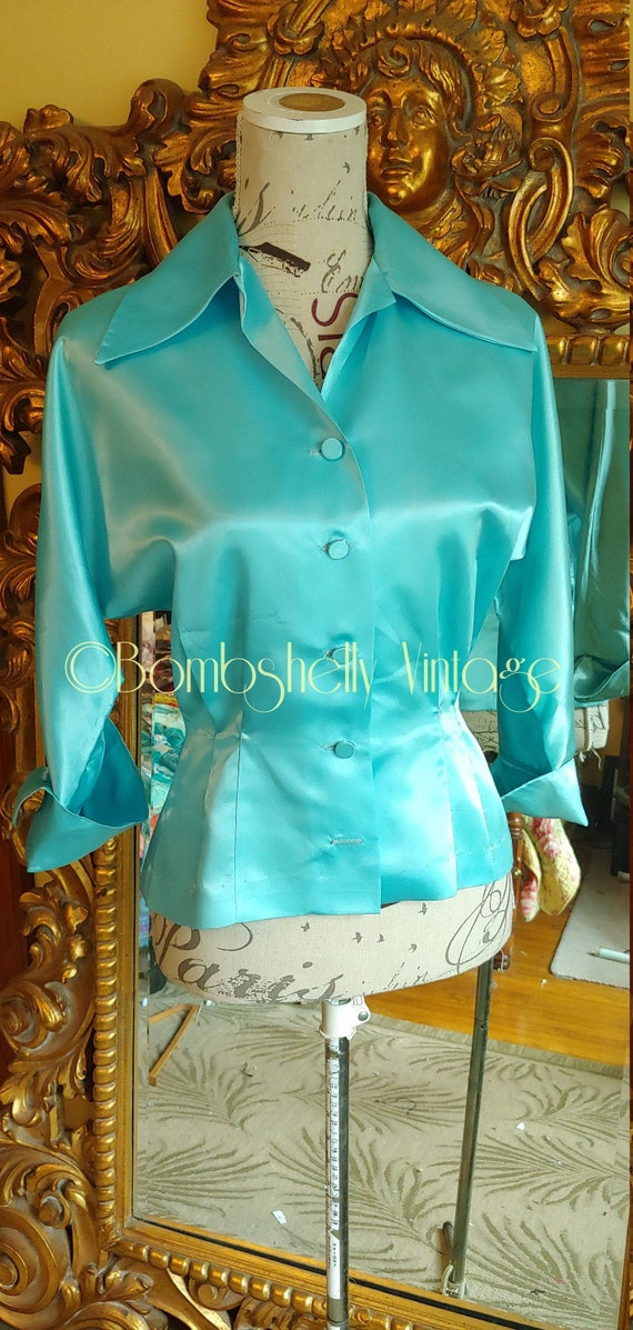 Vintage 40's Sorority House Sportswear Light Blue