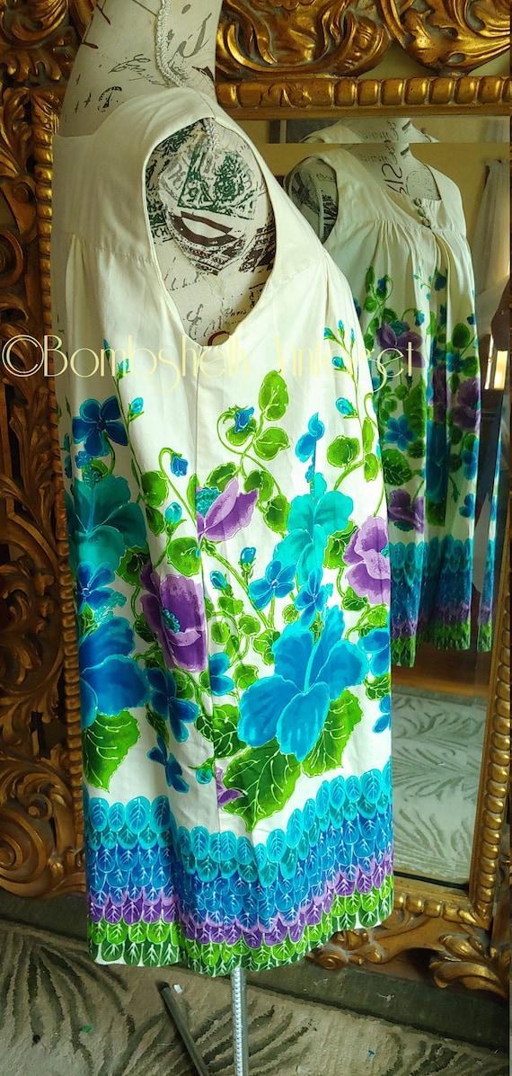 Vintage 60's Ui-Maikai Pima Cotton Hawaiian Tiki … - image 4
