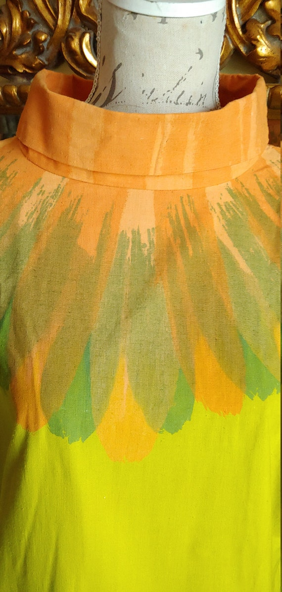 Vintage 60's Hand Screened Gerta Nordby Denmark R… - image 3