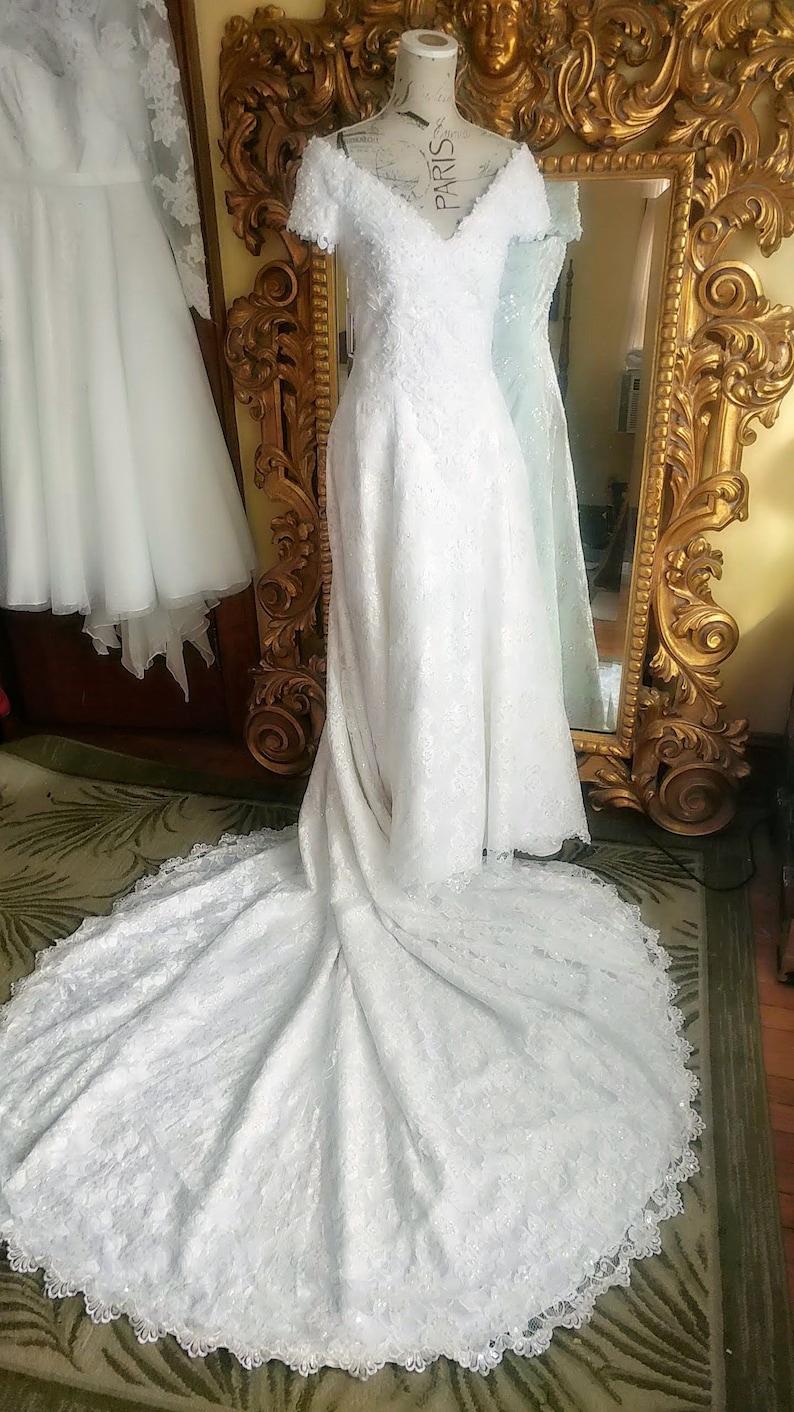 Demetrios Lace Wedding Dress