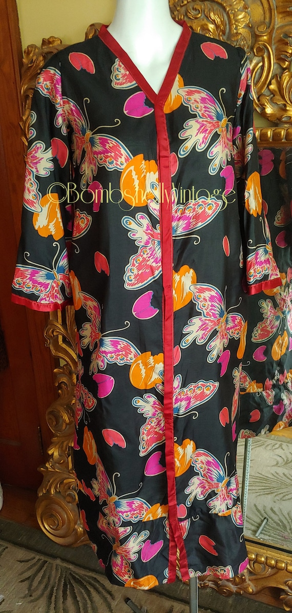 Vintage 20's Silk Butterfly Robe