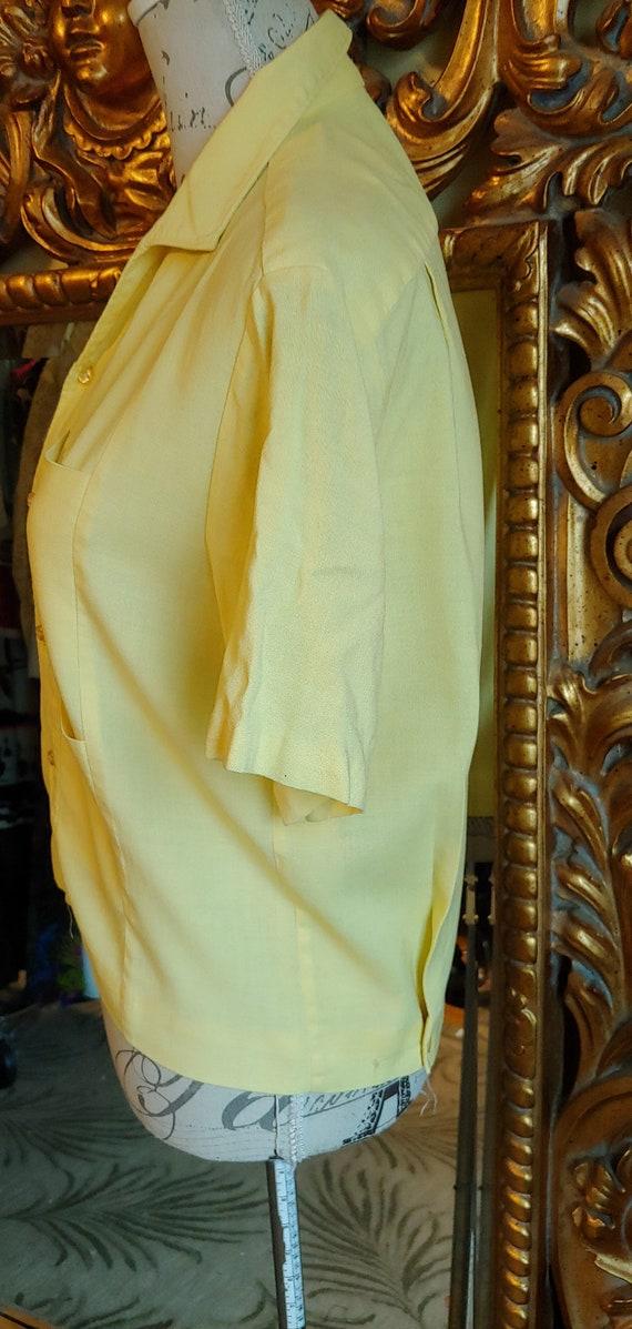 Vintage 50's Iolani Sportswear Yellow Tiki Shirt … - image 5