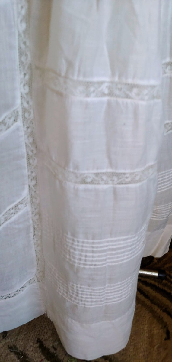 Antique 1890's White Cotton Victorian Wedding Dre… - image 7
