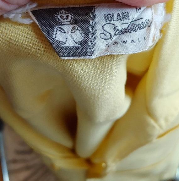 Vintage 50's Iolani Sportswear Yellow Tiki Shirt … - image 8