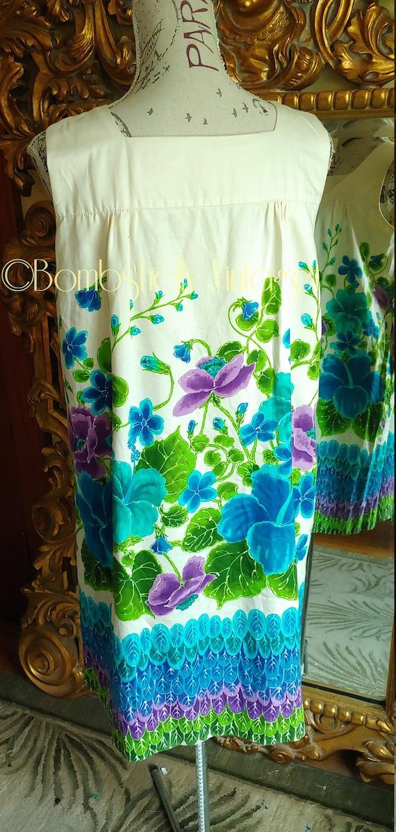 Vintage 60's Ui-Maikai Pima Cotton Hawaiian Tiki … - image 3