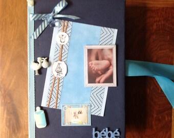 Album photos, naissance garçon, anniversaire, fait main, scrapbooking, idée cadeau naissance,boy Is born, pictures
