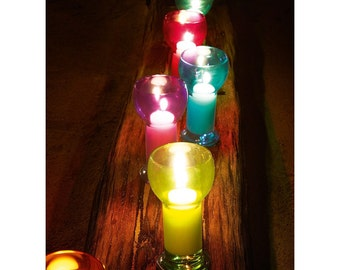Candle Holder Nr. 4 with floating candle water LIGHT-centerpieces-Home Decor-candle holder with floating candle-Centerpiece
