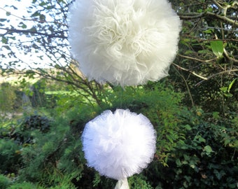 Tassels tulle hanging for Christmas decoration