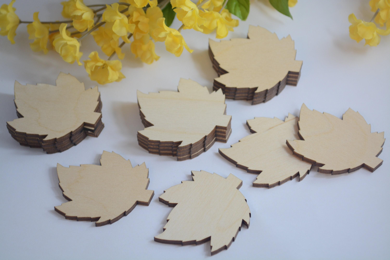 Bulk 2 Wood Leaf Cutouts Fall Wedding Guest Book Bulk Leaves Leaf Tags Wooden Leaf Cutouts Wooden Leaf Cutouts 50 250