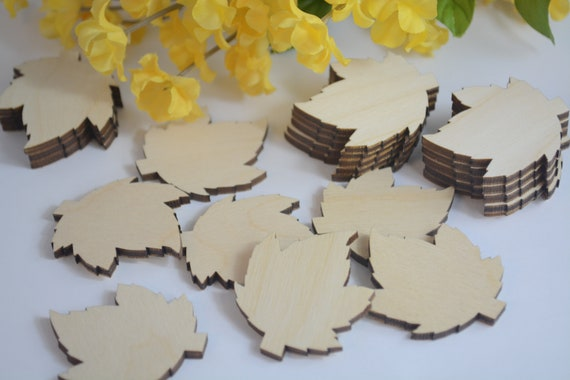 Bulk 15 Wood Leaf Cutouts Fall Wedding Guest Book Bulk Leaves Leaf Tags Wooden Leaf Cutouts Wooden Leaf Cutouts 50 250