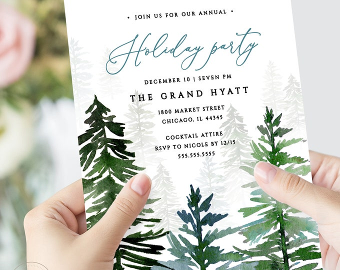 Christmas Party, INSTANT DOWNLOAD, Holiday Party Invitation, Company Party, Printable Invitation, Christmas Invite, Corporate Holiday, 127