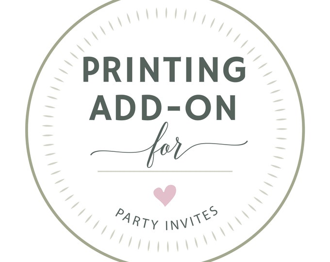 PROFESSIONAL PRINTING, Party Invitations