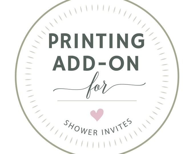 PROFESSIONAL PRINTING, Shower Invitation Set, Baby Shower, Bridal Shower, Invite and Details Card Printed, Choice of Paper Stock
