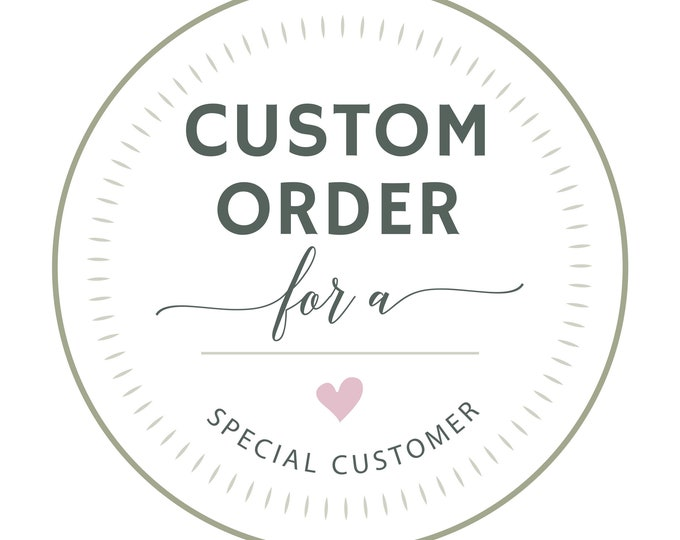 CUSTOM ORDER for Program Printing & Shipping