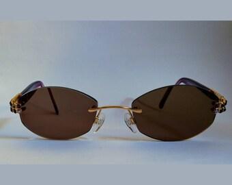 ffe50537549 SWAROVSKY - austrian sunglasses - women sunglasses - vintage sunglasses -  oval sunglasses - vintage style