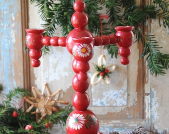 swedish christmas candle holder traditional xmas wooden candelabra scandinavian sweden nordic home decor - Traditional Swedish Christmas Decorations