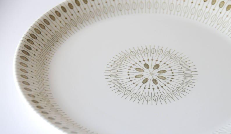 Scandinavian Retro Egersund Mid Century Modern Green Zenith Dinner Plate Modern Norwegian design