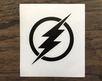 Flash Logo Decal | The Flash Logo | Flash Decal Laptop | Window Decal | Jeep Decal | The Flash Sticker | Flash | Barry Allen | DC Comics