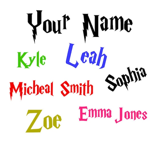 Harry Potter Font Name Decal Harry Potter Decal Harry Etsy
