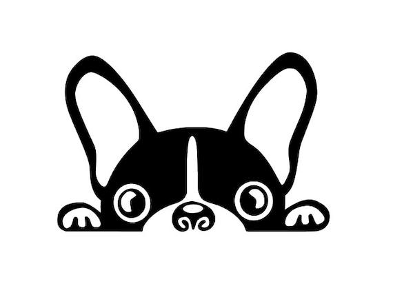 Peeking French Bulldog Face Die Cut Decal Yeti Rtic Decal Etsy