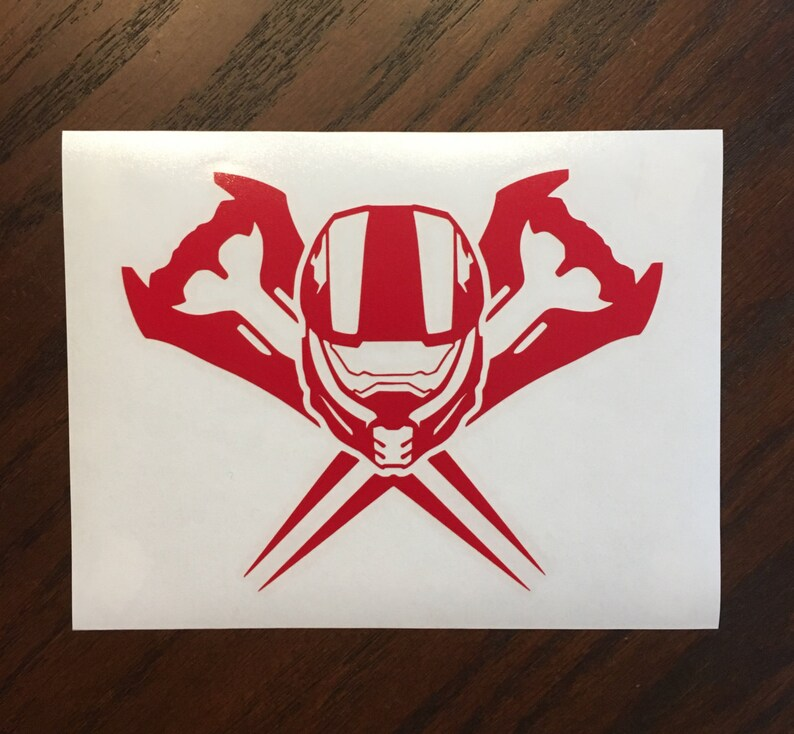 Master Chief Vinyl Decal | Halo Decal | Master Chief | Xbox | Xbox One |  Yeti Decal | RTIC Decal | SCI FI | Gaming | Die-Cut | Jeep Sticker