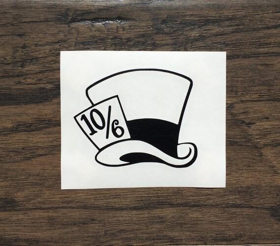8c6300e92fb Alice In Wonderland Mad Hatter Hat 10 6 Tea Party