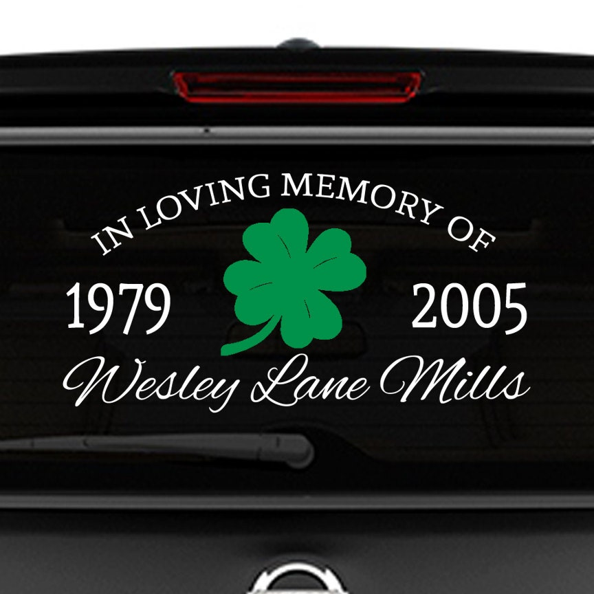 in memory decal in memory of dad memorial car decal etsy. Black Bedroom Furniture Sets. Home Design Ideas