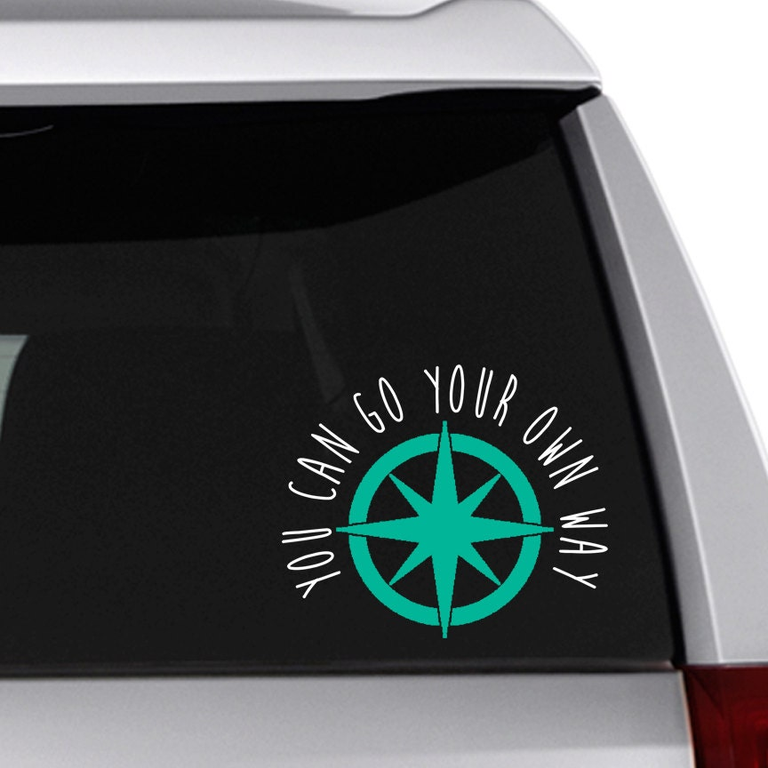 hippie car decal go your own way fleetwood mac etsy. Black Bedroom Furniture Sets. Home Design Ideas