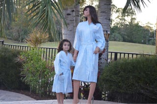 Mother and daughter robes set, Kimono Robes ,Mother's Day Gift READY TO SHIP 100% cotton Size Small Medium and Girl's 6-8