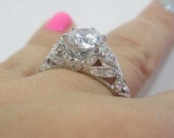 Antique Engagement Ring Edwardian Style Engagement Ring Etsy