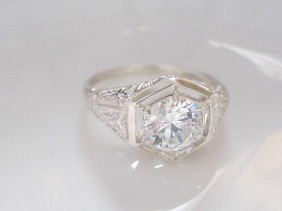Art Nouveau Engagement Ring Antique Style Engagement Rings Etsy