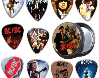 Limited To 100 Acdc 10 X Plectrums /& Tin Guitar Picks